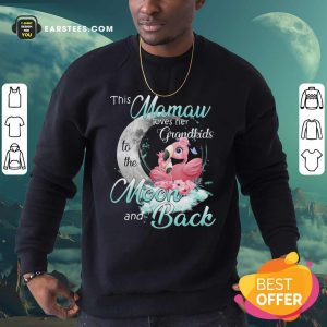 Flamingo This Mamaw Loves Her Grandkids To The Moon And Back Sweatshirt - Design By Earstees.com
