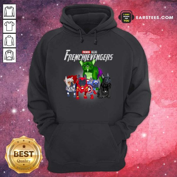 French Bulldog Frenchievenger Hoodie- Design By Earstees.com