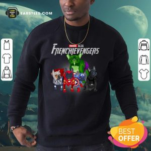 French Bulldog Frenchievenger Sweatshirt- Design By Earstees.com