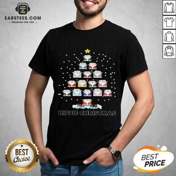 Original Hippie Bus Tree Christmas Shirt - Design By Earstees.com