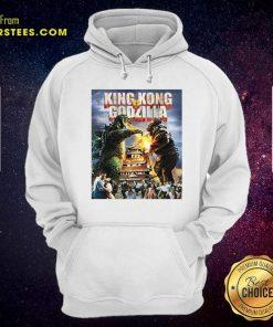 Kaiju Battle King And Kong Godzilla Hoodie- Design By Earstees.com