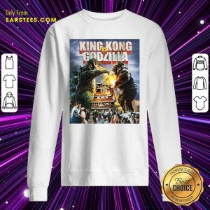 Kaiju Battle King And Kong Godzilla Sweatshirt- Design By Earstees.com