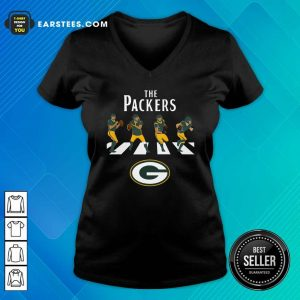 The Green Bay Packers Football Abbey Road V-neck- Design By Earstees.com