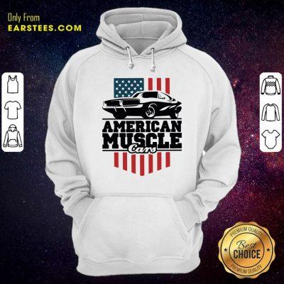 American Muscle Cars Flag Hoodie- Design By Earstees.com