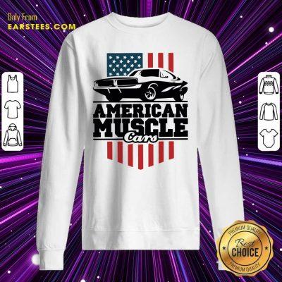 American Muscle Cars Flag Sweatshirt- Design By Earstees.com
