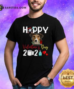 Fox Terrier Happy Valentines Day With Toilet Paper 2021 Hoodie- Design By Earstees.com