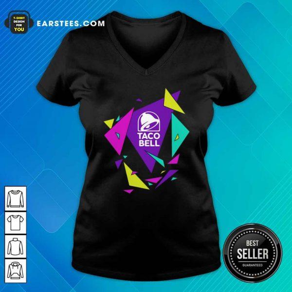 Gavin Dempsey Taco Bell Geometric Logo V-neck- Design By Earstees.com