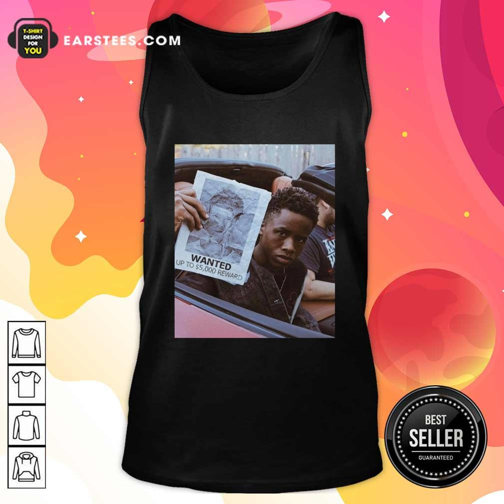 Tay K Wanted Up To 5000 Reward Tank Top- Design By Earstees.com