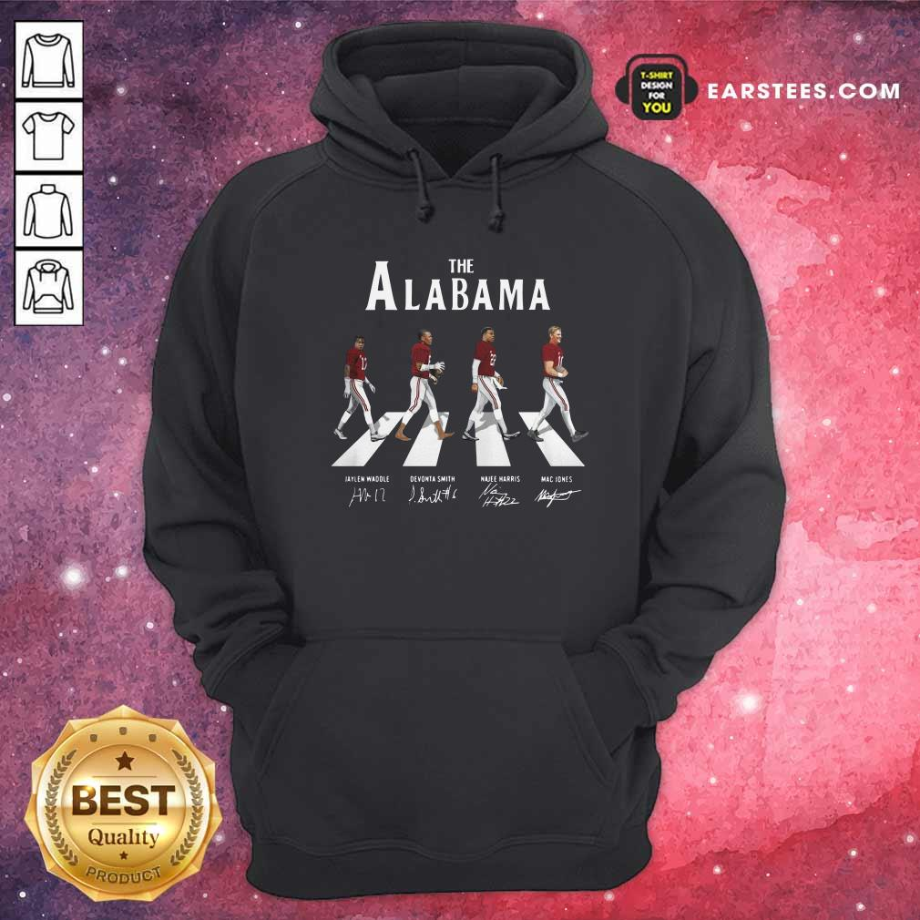 The Alabama Crimson Tide Abbey Road Signatures Hoodie- Design By Earstees.com