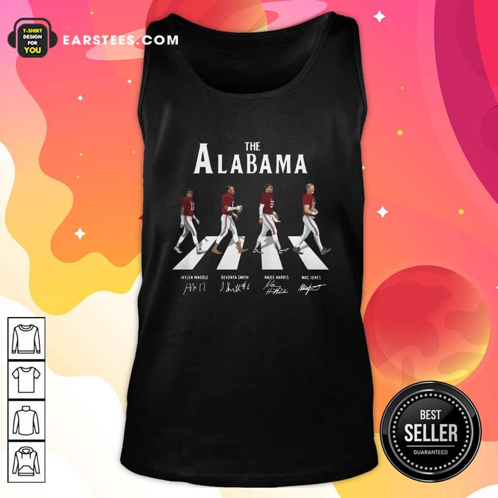 The Alabama Crimson Tide Abbey Road Signatures Tank Top- Design By Earstees.com