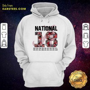 18 Time National Alabama Crimson Tide Hoodie- Design By Earstees.com