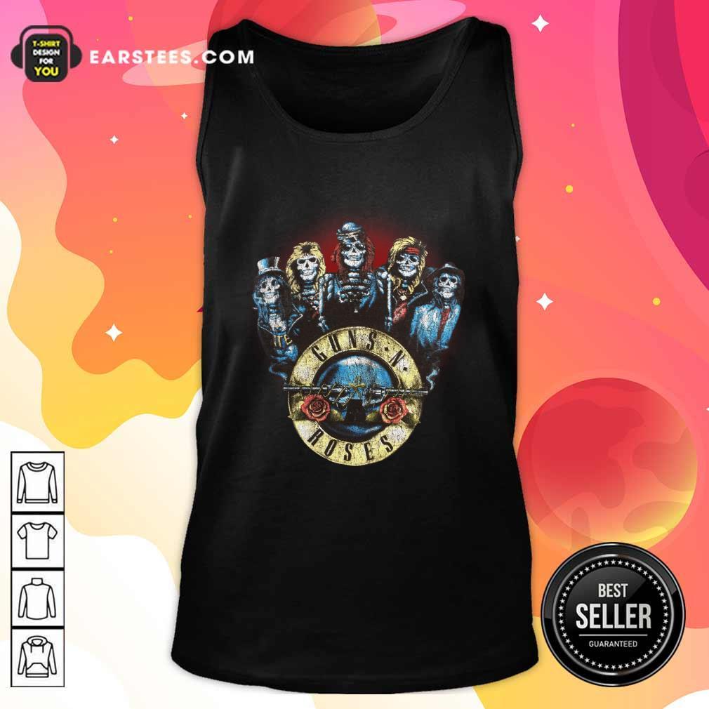 Skeleton Guns N Roses Rock Band Tank Top- Design By Earstees.com
