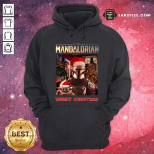 Star Wars The Mandalorian And Baby Yoda Merry Christmas Hoodie- Design By Earstees.com