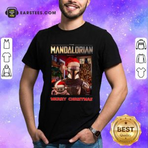 Star Wars The Mandalorian And Baby Yoda Merry Christmas Shirt- Design By Earstees.com