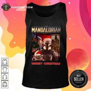 Star Wars The Mandalorian And Baby Yoda Merry Christmas Tank Top- Design By Earstees.com