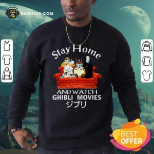 Stay Home And Watch Ghibli Movies Face Mask Sweatshirt- Design By Earstees.com
