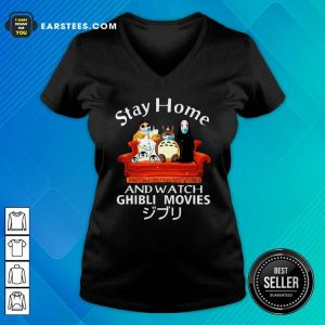 Stay Home And Watch Ghibli Movies Face Mask V-neck- Design By Earstees.com
