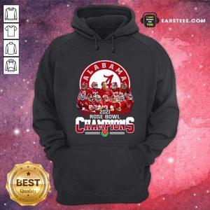 Alabama Crimson Tide 2021 Rose Bowl Champions Hoodie- Design By Earstees.com