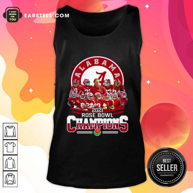 Alabama Crimson Tide 2021 Rose Bowl Champions Tank Top- Design By Earstees.com