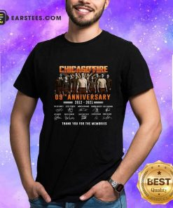 Chicago Fire 09th Anniversary 2012 2021 Signatures Thank Shirt- Design By Earstees.com