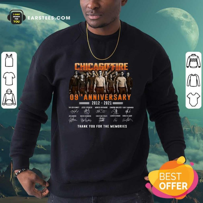 Chicago Fire 09th Anniversary 2012 2021 Signatures Thank Sweatshirt- Design By Earstees.com