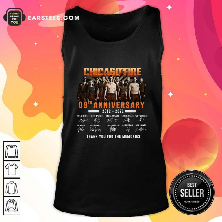 Chicago Fire 09th Anniversary 2012 2021 Signatures Thank Tank Top- Design By Earstees.com