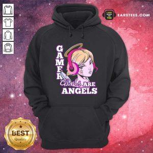 Gamer Girls Are Angels Hoodie- Design By Earstees.com