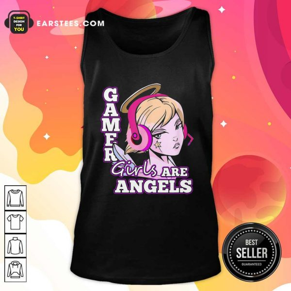 Gamer Girls Are Angels Tank Top- Design By Earstees.com