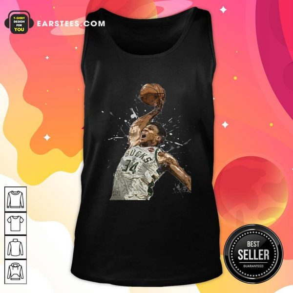 Giannis Antetokounmpo 34 Bucks Jersey Basketball Tank Top - Design By Earstees.com