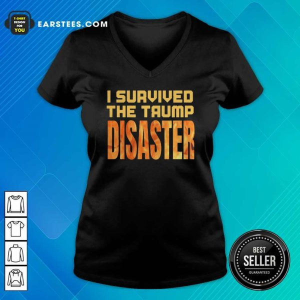 I Survived The Trump Disaster Election V-neck - Design By Earstees.com