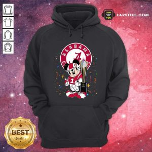 Mickey Mouse And Cup Alabama Crimson Tide Football Hoodie- Design By Earstees.com