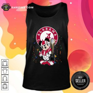 Mickey Mouse And Cup Alabama Crimson Tide Football Tank Top- Design By Earstees.com