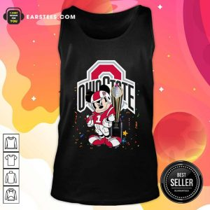 Mickey Mouse And Cup Ohio State Buckeyes Tank Top- Design By Earstees.com