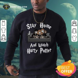 Stay Home And Watch Harry Potter Face Mask Sweatshirt- Design By Earstees.com