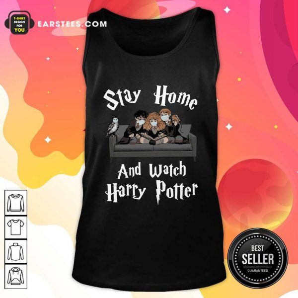 Stay Home And Watch Harry Potter Face Mask Tank Top- Design By Earstees.com