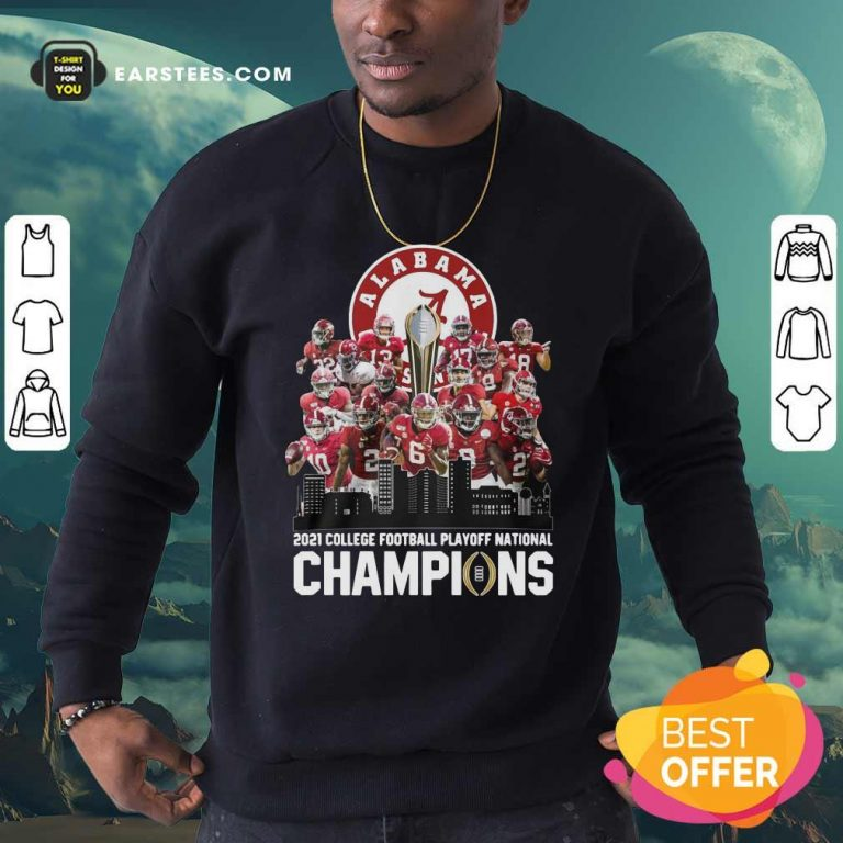 Alabama Crimson Tide 2021 College Football Playoff National Champions Sweatshirt- Design By Earstees.com