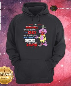 Ignorance Can Be Educated And Zrazy Can Be Medicated But Theres No Cure For Stupid Hoodie- Design By Earstees.com