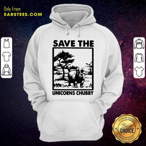 Save The Unicorns Chubby Hoodie- Design By Earstees.com