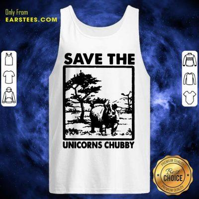 Save The Unicorns Chubby Tank Top- Design By Earstees.com