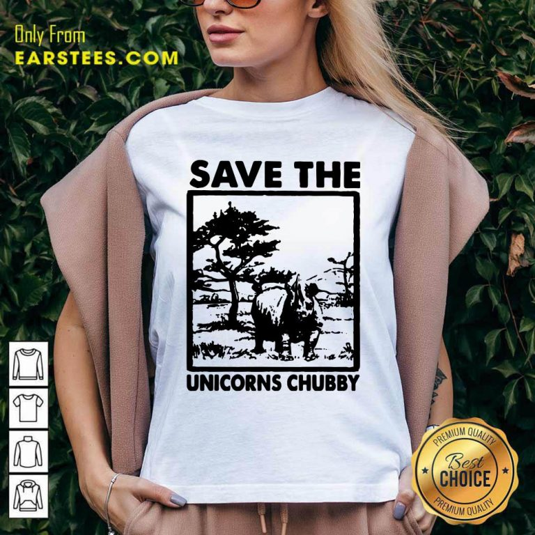 Save The Unicorns Chubby V-neck- Design By Earstees.com
