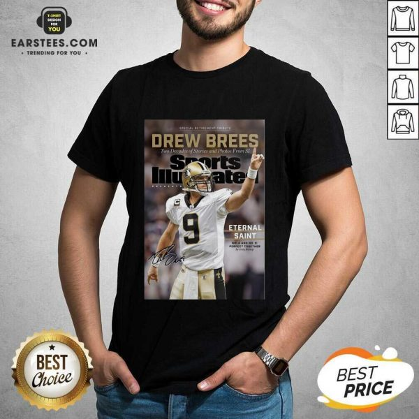 Excellent 9 Drew Brees New Orleans Shirt