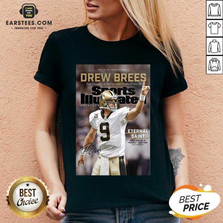 Excellent 9 Drew Brees New Orleans V-neck