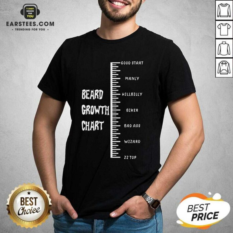 Excellent Beards Crowth Chart Great 56 Shirt