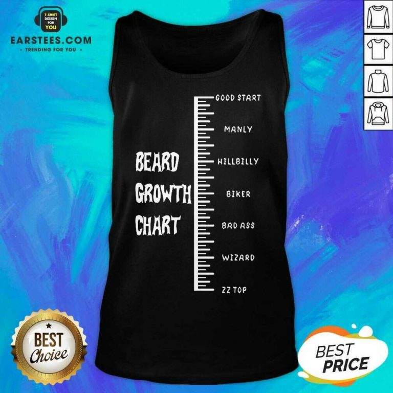 Excellent Beards Crowth Chart Great 56 Tank Top