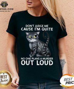 Excellent Cat Judge Quiet Loud Plans 56 V-neck