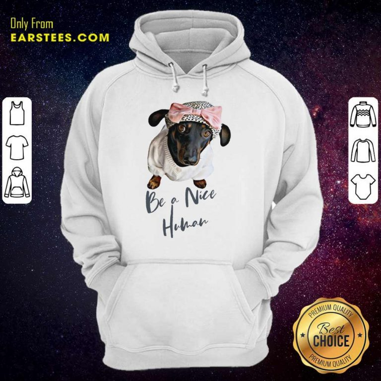 Excellent Dachshund Be A Nice Human Dog Hoodie