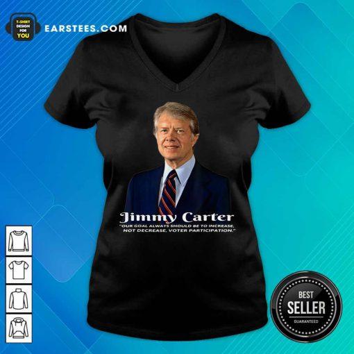 Excellent Former President Jimmy 23 V-neck
