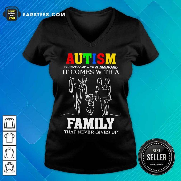 Fantastic Autism A Manual Family V-neck
