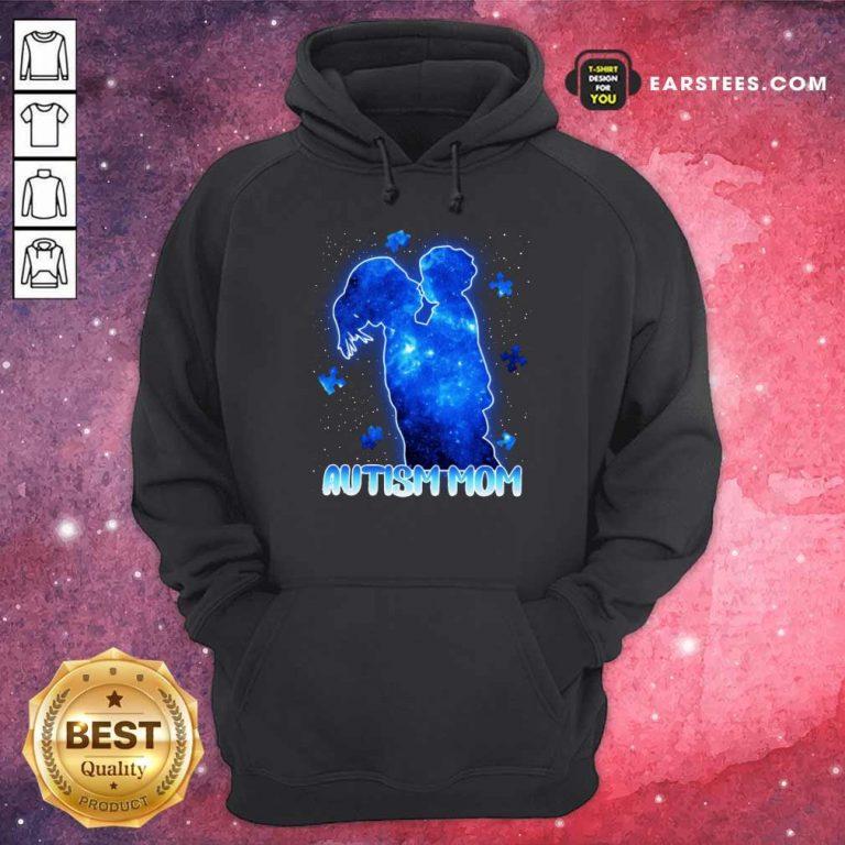 Fantastic Autism Mom Lovely Blue Hoodie