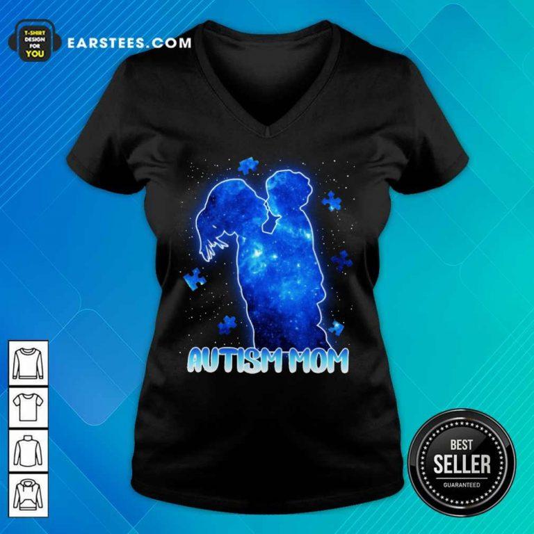 Fantastic Autism Mom Lovely Blue V-neck